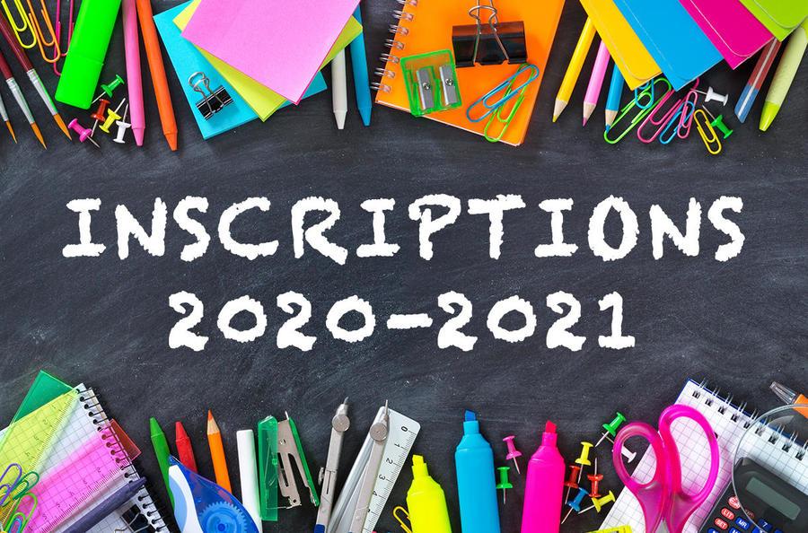 Ouverture des inscriptions - Rentrée 2020/2021