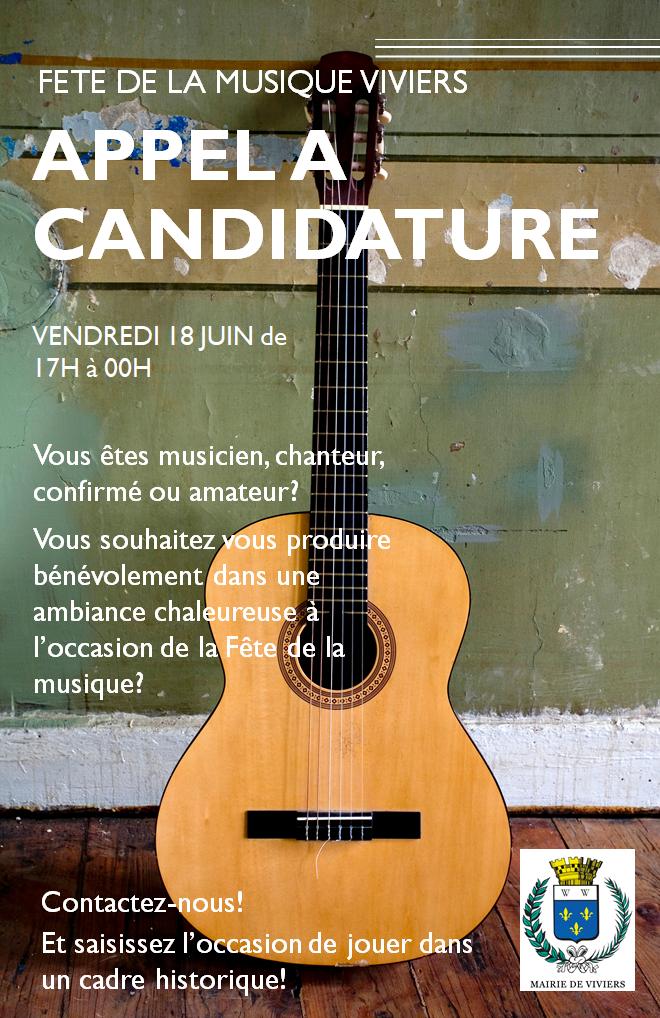 date limite pour votre candidature à la Fête de la Musique