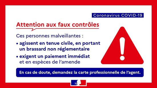 COVID-19 - Attention aux arnaques