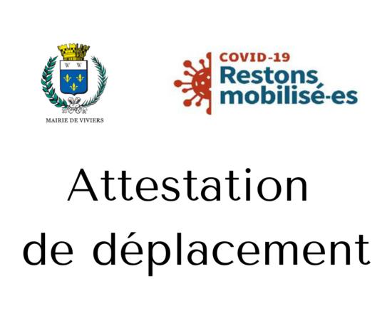 Confinement / Attestation de déplacement