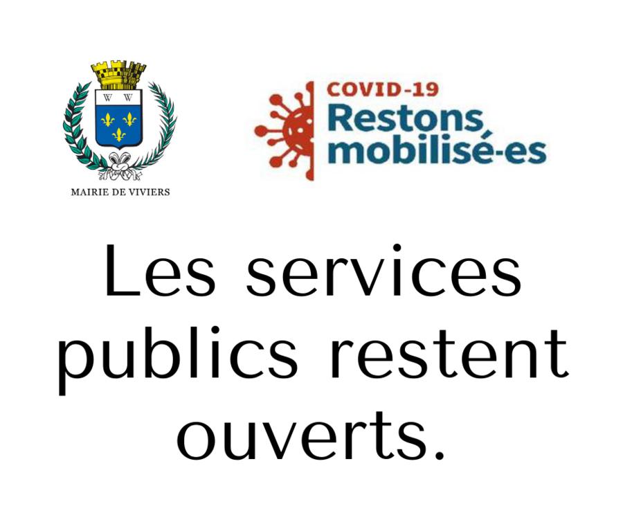 Confinement / Services publics