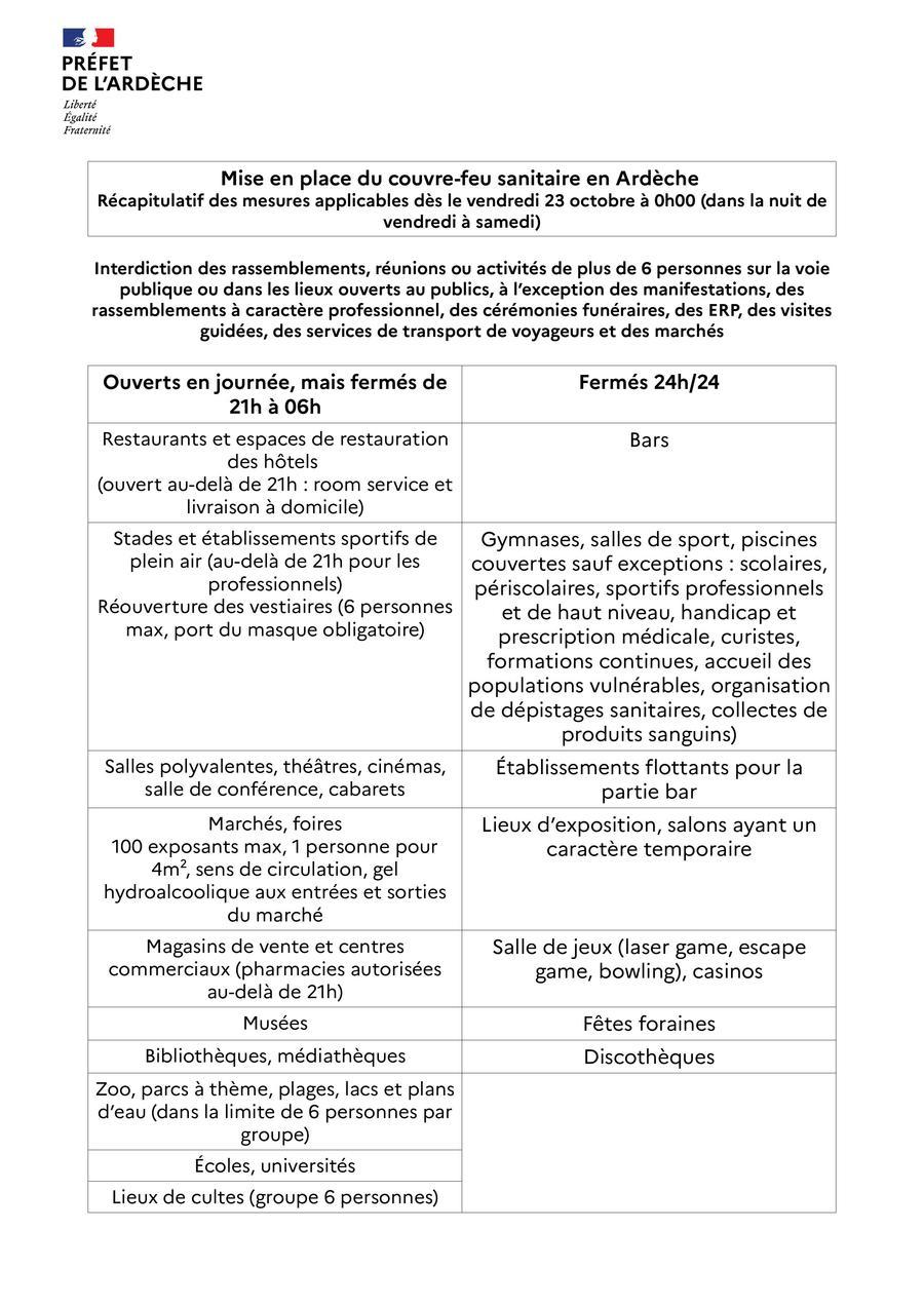 COVID / COUVRE-FEU